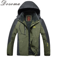 L-8XL Autumn Men Outdoor Waterproof Jacket Camping Hiking Jackets Hunting Climbing WindStopper Rain Fishing Sport Windbreaker