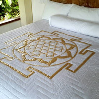 Beloved Yantra Crystal Infused Quilt