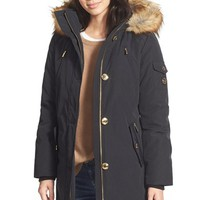 Women's MICHAEL Michael Kors 'Expedition' Faux Fur Trim Down & Feather Fill Parka,
