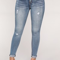Sunrise Mornings Ankle Jeans - Vintage Wash