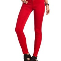 Refuge High Waist Super Skinny Jean by Charlotte Russe - Dark Red