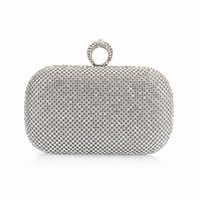""""""" Luxury""""   Full Diamond Finger Ring Clutch (Gold, Silver and Black)"""