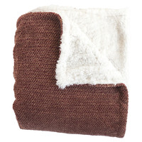 Shelley Chocolate Super Soft Melange Waffle Throw