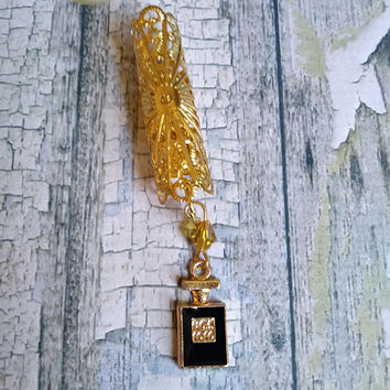 Designer Inspired , Coco  Inspired, #5 Perfume Bottle,  Box Braid Beads, Dreadlock Jewelry, Wrap Bead, Handmade