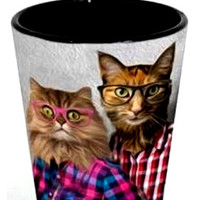 Couple Portrait Shot Glass