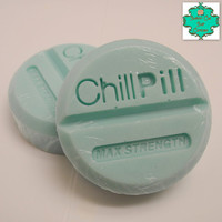 Chill Pill Soap Set - Peppermint & Eucalyptus Scented - Relaxing Soap, Eucalyptus Soap, Peppermint Soap, Mood Lifting Soap, Shea Butter Soap