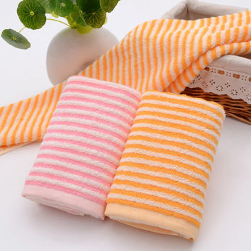 Hot Deal Bedroom On Sale Cotton Stripes Soft Towel [6381688070]