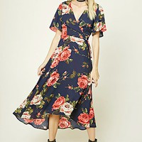 Contemporary Floral Wrap Dress
