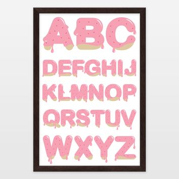 Cookies and Strawberry Icing ABC Framed Art Print by Playedonwalls on BoomBoomPrints