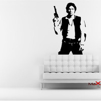 Star Wars Han Solo Decal, Han Solo Removale Wall Decal