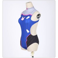 Overwatch Cosplay Dva Swimsuit Open Back