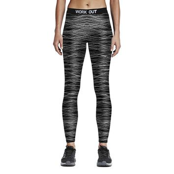 Women Sporting Fitness Leggings Hot Digital Printed Work Out Stretchy Leggings Elastic Waist Ankle Length Ropa Deporte Mujer 75Z