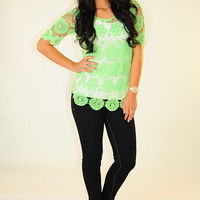 Hold Me Closer Top: Neon Green