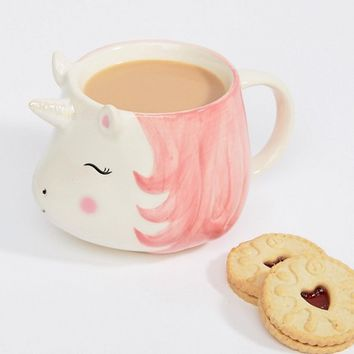 Sass & Belle Rainbow Unicorn Mug at asos.com
