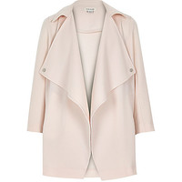 River Island Girls pink crepe lightweight draped jacket