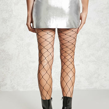 Metallic Faux Leather Skirt