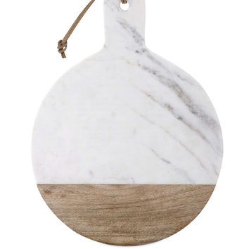 Classy Peyton Marble and Wood Cheese Board