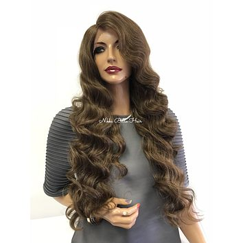 """Brown Balayage' Swiss Lace Front Wig 28""""