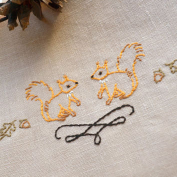 Embroidery Pattern Squirrel Hand From Naiveneedle On Etsy
