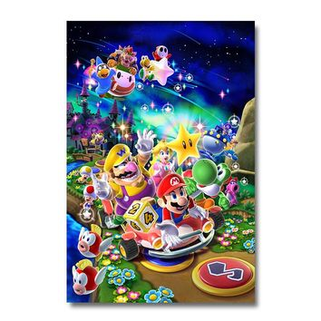 Super Mario Galaxy 2 Game Silk Poster Wall Art Print 12x18 24x36 inch Decoration Pictures Wallpaper Living Room Decor 005