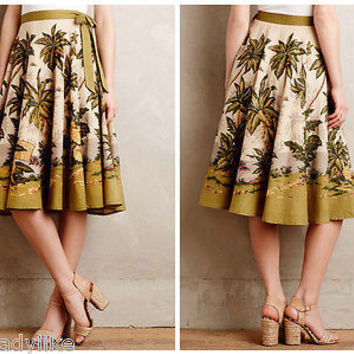 NWT Anthropologie Sun Palm Skirt Sz M - by Rose & Rose