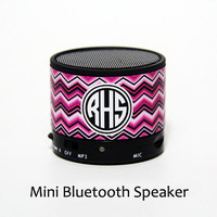 Fashion Zigzag Stripes Monogram Wireless Bluetooth Mini Speaker
