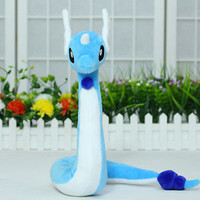 "27"" Pokemon Go Dragonair Blue Snake Cosplay Plush Anime Pocket Monster Doll Toy"