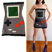 Gameboy Tube Dress xs s m L xl by HereandThereVintage on Etsy
