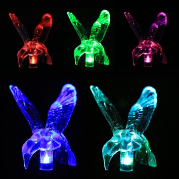 New LED Solar Stake Garden Stake Lights Changing Color Solar Light Lamp