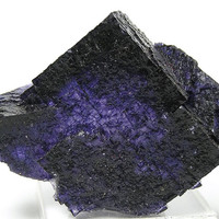 Dark Purple Fluorite Crystal Elmwood Tennessee Mineral Specimen