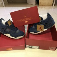 Levi's x Air Jordan 4 AO2571-401 Men Basketball Shoe