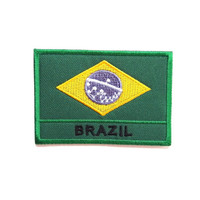 Brazil Flag/ Patch/Iron on Patch/Applique/Embroidery