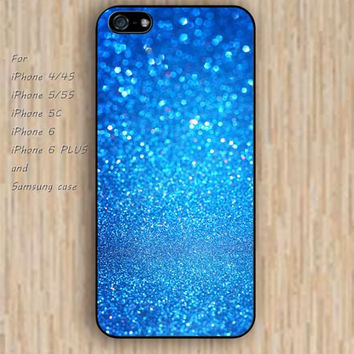iPhone 5s 6 case Turquoise glitter fashion dream phone case iphone case,ipod case,samsung galaxy case available plastic rubber case waterproof B717