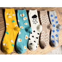 Women's Cartoon Egg Patterns Socks