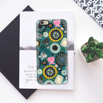 BLOOMS teal iPhone 6s case by Sharon Turner | Casetify