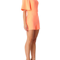 PADME - Neon Orange Playsuit