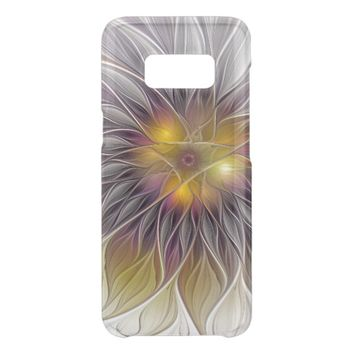 Luminous Colorful Flower, Abstract Modern Fractal Get Uncommon Samsung Galaxy S8 Case