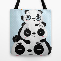 Panda family Tote Bag by Maria Jose Da Luz