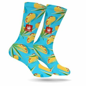 TACO TUESDAY WEED SOCKS BY STONER DAYS