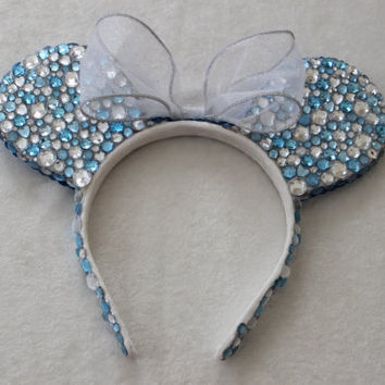 Cinderella Inspired Minnie Mouse Ears  READY TO by GlitzyVault
