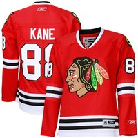 Women's Chicago Blackhawks Patrick Kane Reebok Red Home Premier Jersey