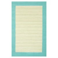Lakeshore Stripe Rug, Pool/Mint