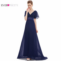 Evening Dresses HE09890 Padded Trailing Flutter Sleeve Long Women Gown   Chiffon Summer Style Special Occasion Dresses