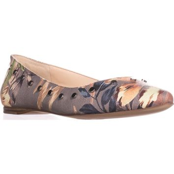 Nine West Sigismonda Ballet Flats, Taupe Multi, 7.5 US