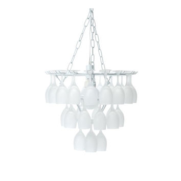 Frosted Wine Glass Chandelier 'Vino'