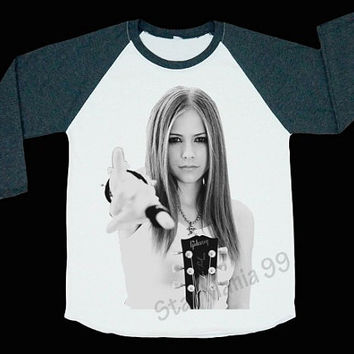 Avril Lavigne Rock Shirt Avril Lavigne T Shirt Rock Shirt Baseball Shirt Long Sleeve Shirt Women T-Shirt Unisex Baseball T-Shirt Size S,M,L