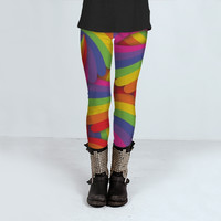 Rainbow Fan Pattern by Hippy Gift Shop (Leggings)