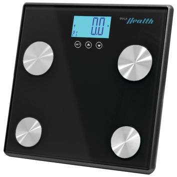 Pyle-sports Bluetooth Digital Weight & Personal Health Scale With Wireless Smartphone Data Transfer (black)