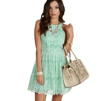 Mint Always Dolled Up Skater Dress