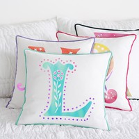 Mini Pom Monogram Pillow Cover